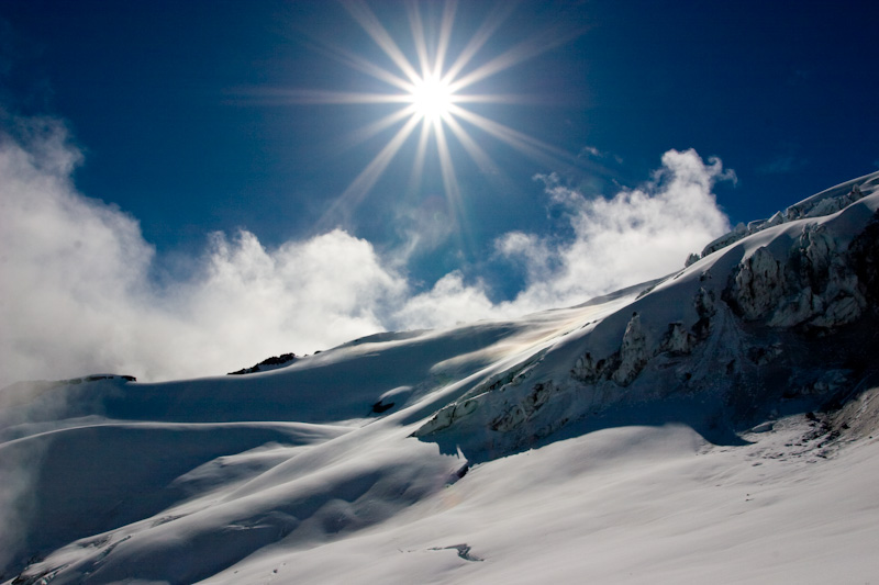 Sun Above The Nisqually Glacier